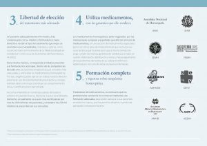 Declaración Homeopatía