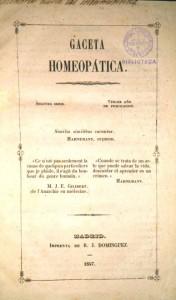 Figura 2. Ejemplar de la Gaceta Homeopática.